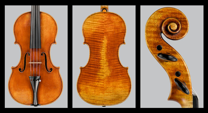 Violin Ch. Dequincey 2016, Del Gesù-Plowden Model (Photo credit: Jean Fitzgerald)